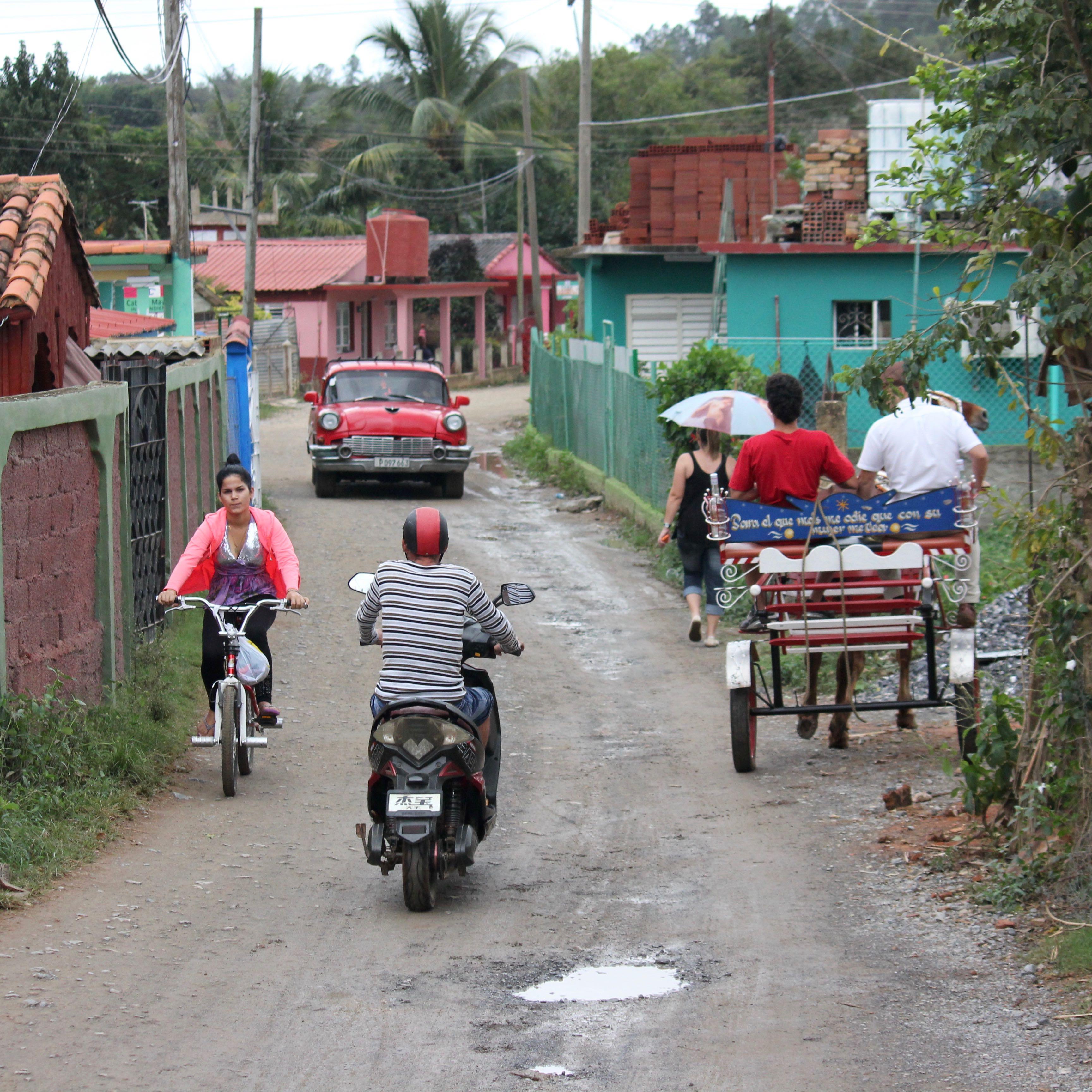 vinales, Cuba traffic